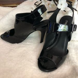 STYLUXE - Black Strapped Shoes - NWOT